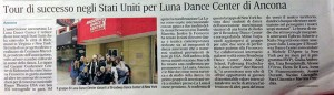 Tour di successi negli Stati Uniti per la Luna Dance Center di Ancona