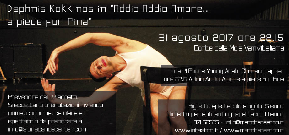 """Daphnis Kokkinos in """"Addio Addio Amore… a piece for Pina"""""""